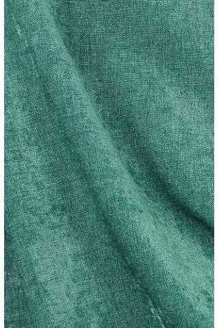 Velours Chenille linnen turquoise groen