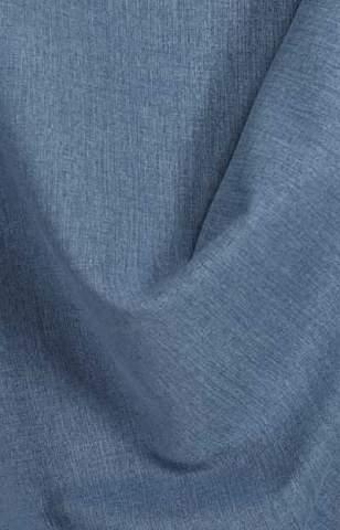 Lichte velours look blauw