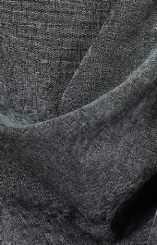 Velours Chenille linnen antraciet lichtgrijs