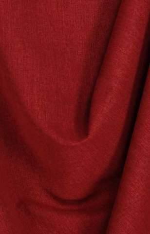 Lichte velours look bordeaux rood