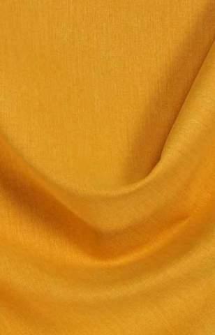 Lichte velours look geel